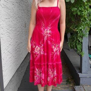 Flattering floral dress